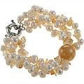 Maddy Emerson White Pearl, Citrine and Jade Bracelet (8-9 mm)