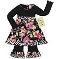 Sweet Jojo Designs 2-piece Black/ Pink Infant Girl Outfit