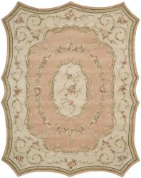 Nourison Hand-tufted Scalloped Peach Rug (7'3 x 9'3)