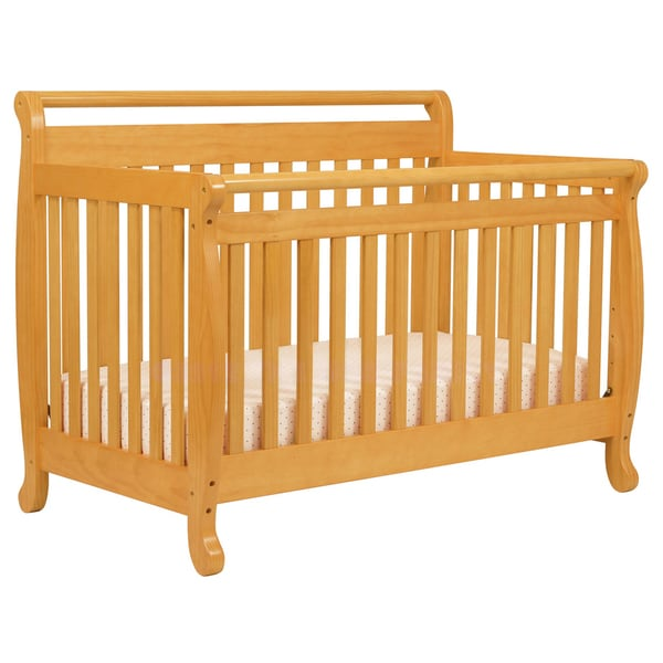 DaVinci Emily 4-in-1 Crib with Toddler Rail in Honey Oak