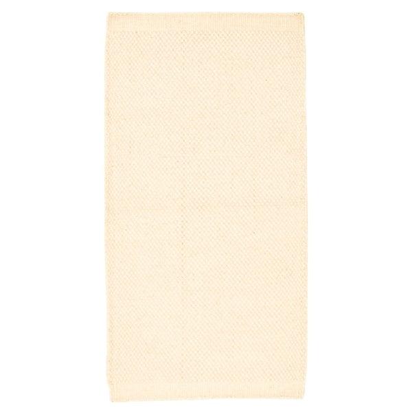 Hand Loomed Bungalow Cream Wool Rug ECARPETGALLERY - 2'8 x 6'4