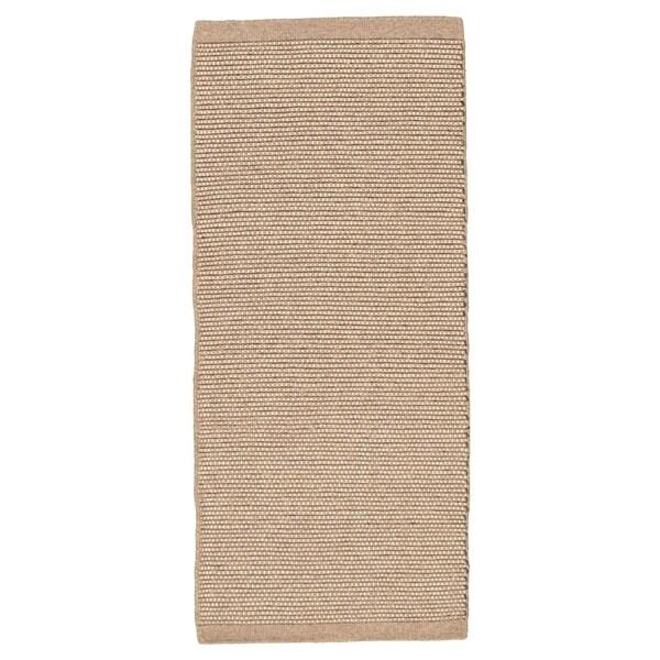 Hand Loomed Bungalow Tan Wool Rug ECARPETGALLERY - 2'10 x 7'0