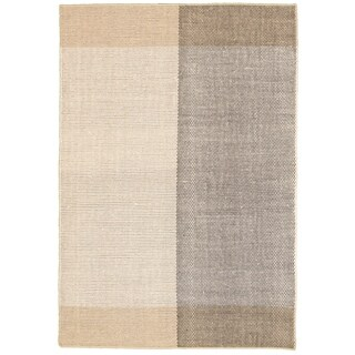 Hand Loomed Bungalow Ivory Wool Rug ECARPETGALLERY - 6'7 x 9'6