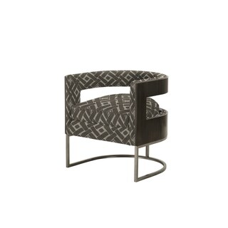 A.R.T. Furniture Prossimo Sedia Peltro Tub Chair - w-25.75 x d-24.25 x h-36