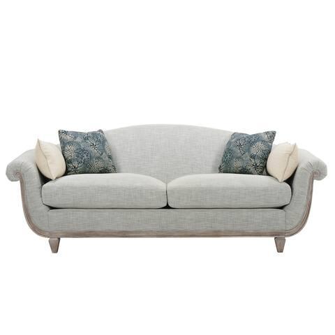 A.R.T. Furniture Summer Creek Upholstery Bodie Blue Sofa - w-88 x d-35.5 x h-33.7