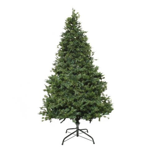 ALEKO Traditional Artificial Indoor Christmas Holiday PE and PVC Tree - 9 Foot