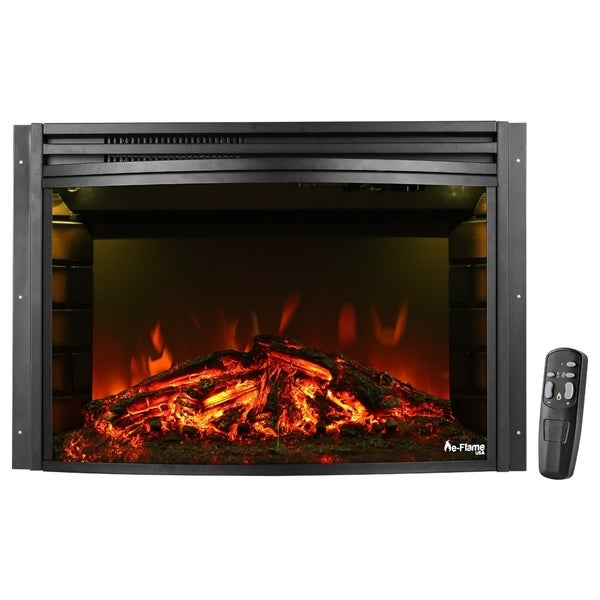 e-Flame USA Quebec 27-inch Electric Fireplace Insert