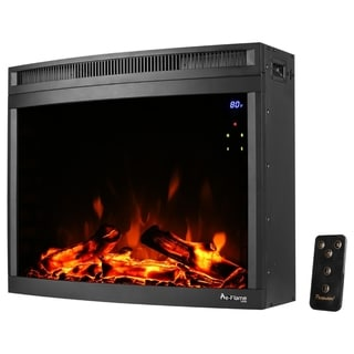e-Flame USA Edmonton 28-inch Curved LED Electric Fireplace Insert