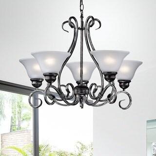 Iron 5-light Hanging Chandelier