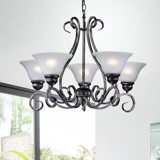 Iron 5-light Hanging Chandelier