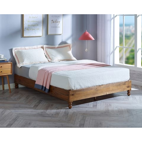 Simple Living Warner Solid Wood Platform Bed