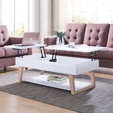 Furniture of America Willen White Contemporary Lift-Top Coffee Table