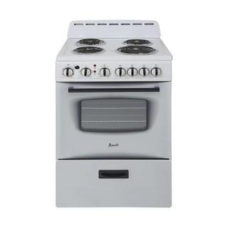 Avanti Products Avanti 24 Inch Electric Stove (White - White Finish)