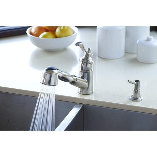 Pacific Bay Bainbridge Pull Out Kitchen Faucet Overstock 30016905