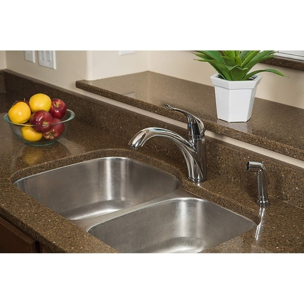 Pacific Bay Medina Kitchen Faucet With Side Sprayer Overstock 30016917