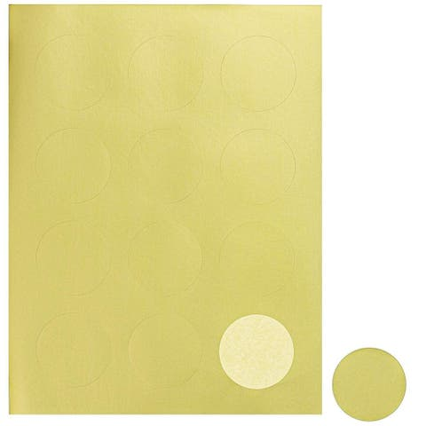 480 Round Gold Foil Sticker Labels, Laser Printer Safe,for envelope seals, 2""