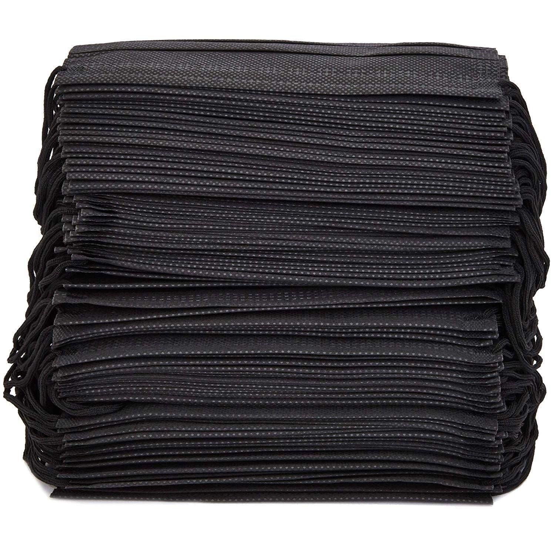 100 disposable black mask
