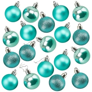 Link to 48-Pack Mini Christmas Tree Ornaments Teal Shatterproof Small Balls Decoration Similar Items in Christmas Decorations