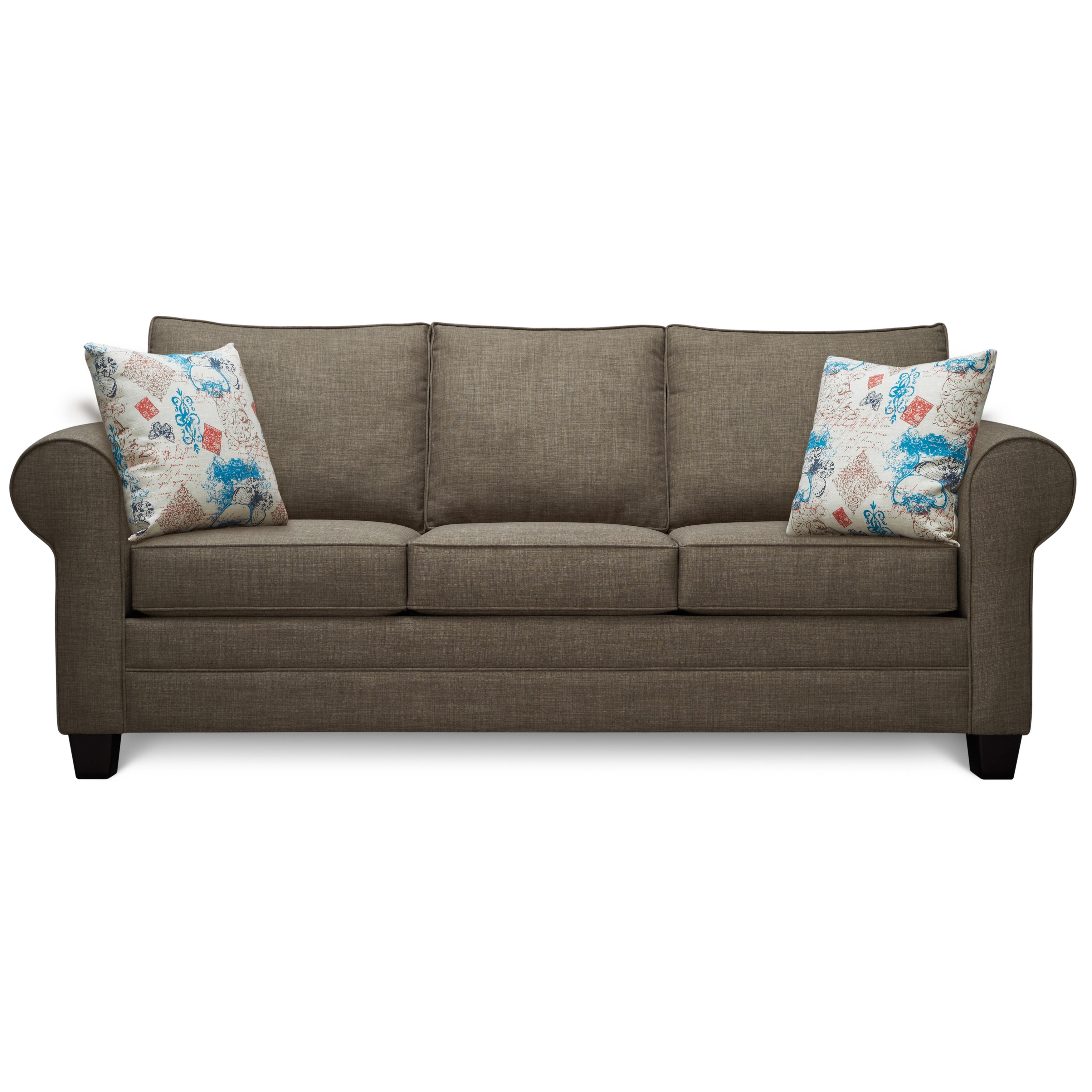Art Van Saxon Stone Sofa With Accent Pillows
