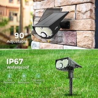 LITOM 2PC 30 LED Solar Lights Landscape Spotlights Waterproof 2-in-1 Solar Wall Light Wireless Outdoor with PIR ... (As Is Item)