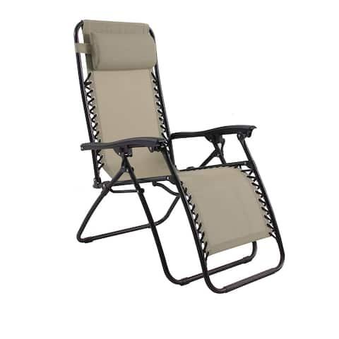 Captiva Designs Zero Gravity Chair for Outdoor Patio Use