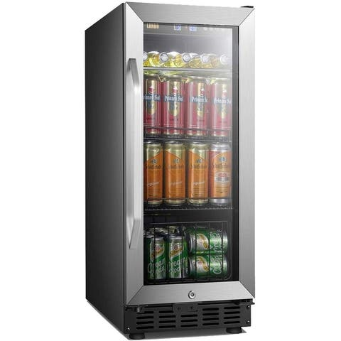Lanbo 15 Inch Built in Compressor Beverage Cooler 70 Cans