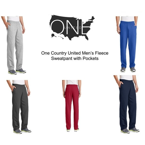 One Country United Men's Sweatpants with Pocket. Opens flyout.