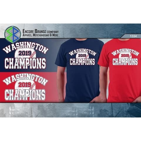 Washington Baseball 2019 Champions Championship T-Shirt for Men & Women (Red/Navy)