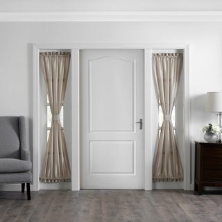 Link to Gracewood Hollow Ford Faux Silk Side Door Window Panel Similar Items in Curtains & Drapes