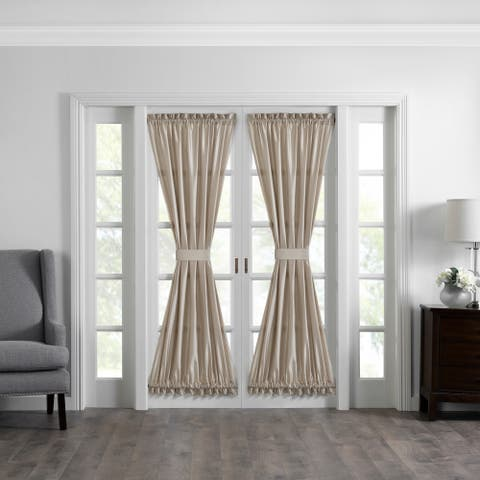 Gracewood Hollow Ford Faux Silk French Door Window Panel