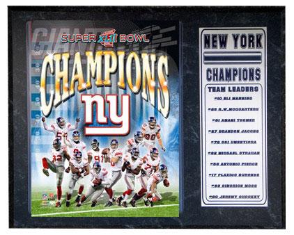 New York Giants World Champs Plaque