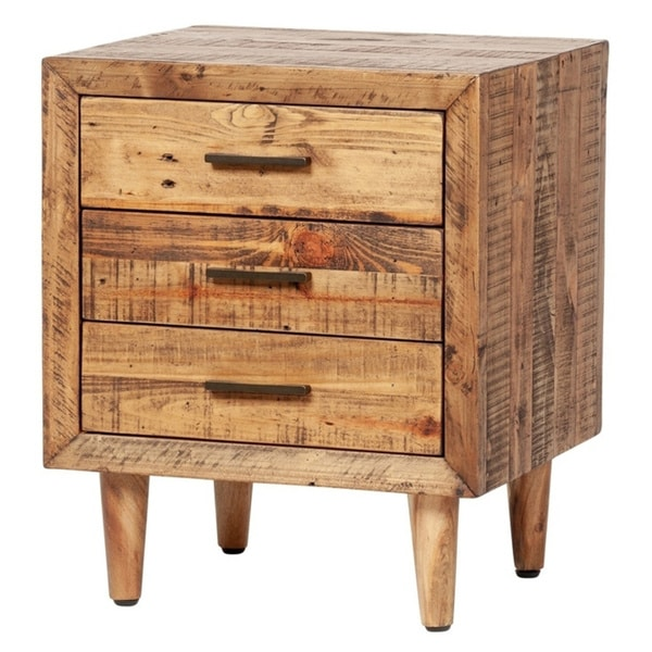 Carbon Loft Alapaki Reclaimed Pine 3-drawer Nightstand. Opens flyout.