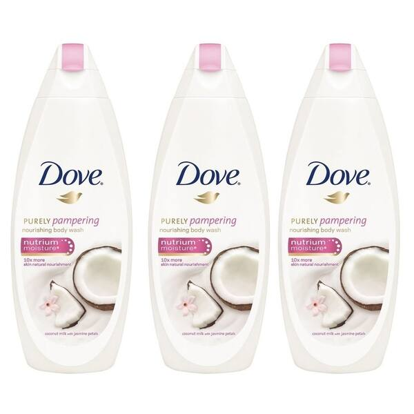Shop Dove Purely Pampering Coconut Milk With Jasmine Petals Body Wash 500ml 3 Pack International Version Overstock 30023441