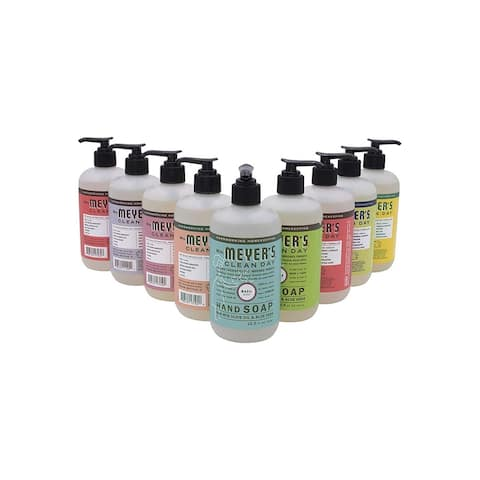 Mrs. Meyers Clean Day Liquid Hand Soap Assorted Scent Variety (Pack of 9) - 12.5 oz Each