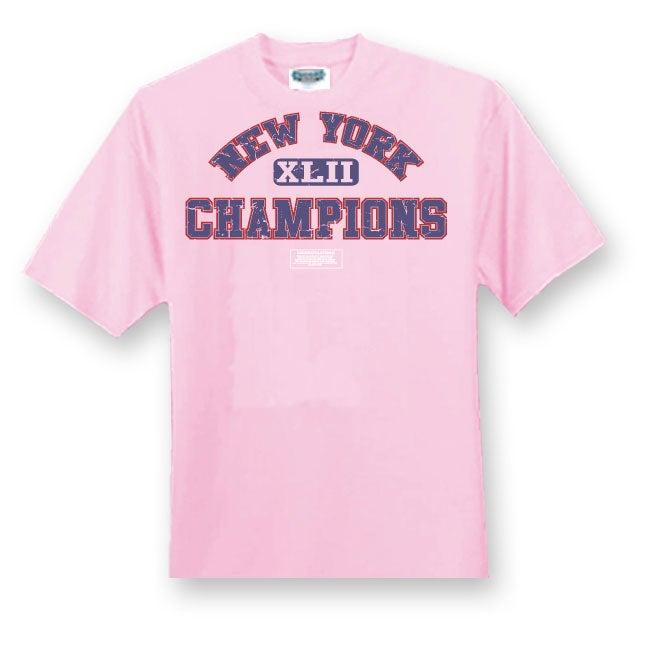 New York Giants Championship Pink T-shirt
