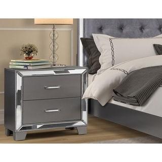 Best Master Furniture Sedona Silver 2 Drawer Nightstand
