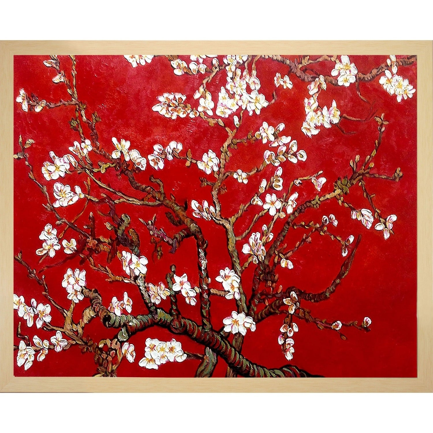 La Pastiche By Overstockart Branches Of An Almond Tree In Blossom By Vincent Van Gogh With Studio Frame 17 5 X 21 5 On Sale Overstock 30023931