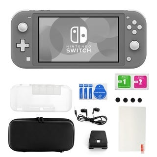 Nintendo Switch Lite in Gray with Accessories 11 in 1 Accessories Kit
