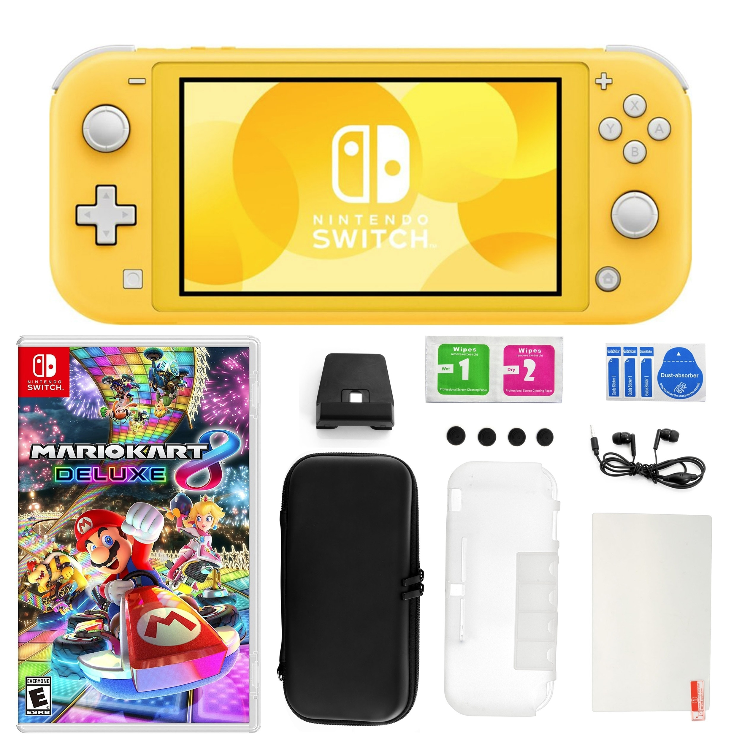 Nintendo Switch Lite Yellow With Mario Kart 8 Deluxe Accessories Kit N A