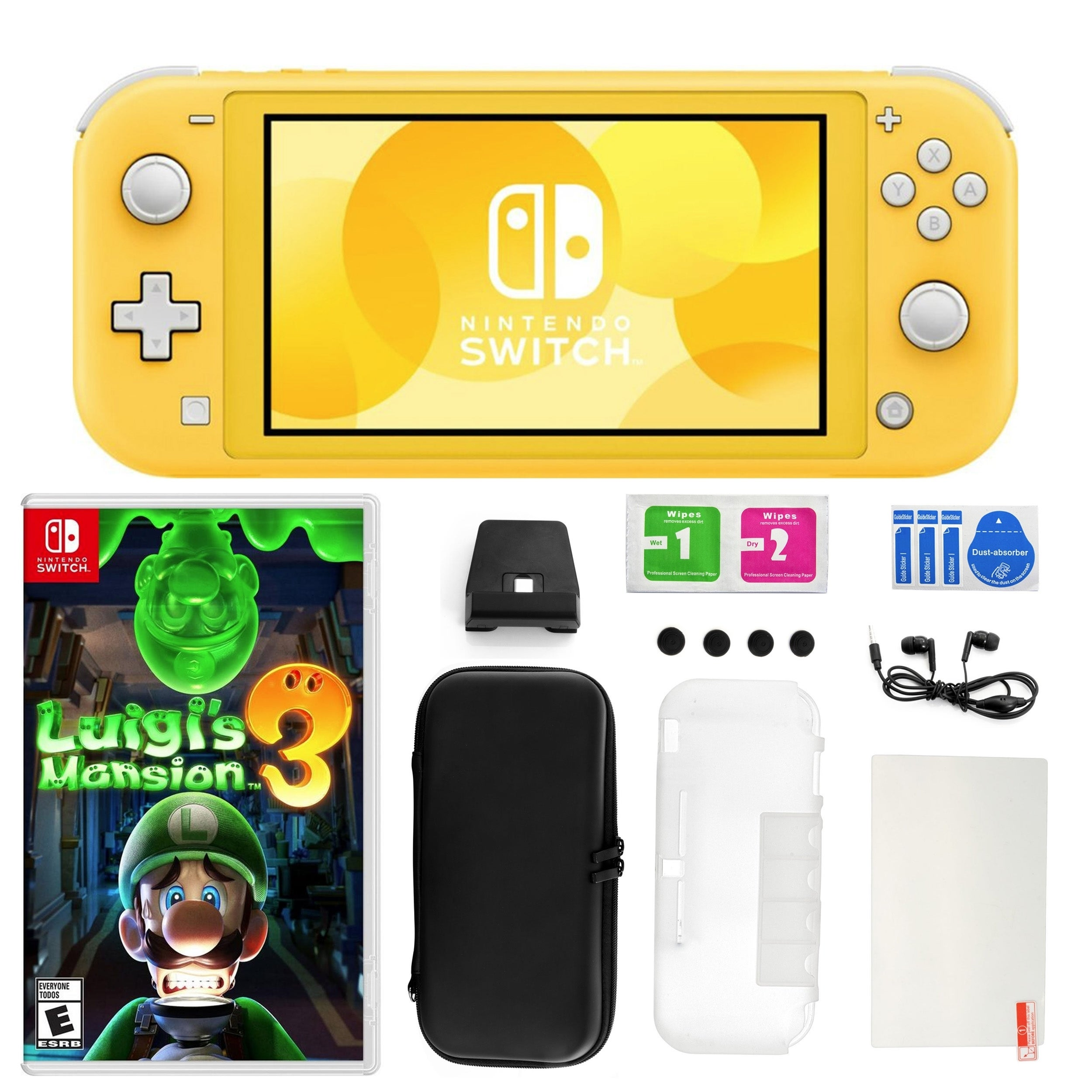 Nintendo Switch Lite Yellow With Luigi S Mansion 3 And Accessories Kit N A