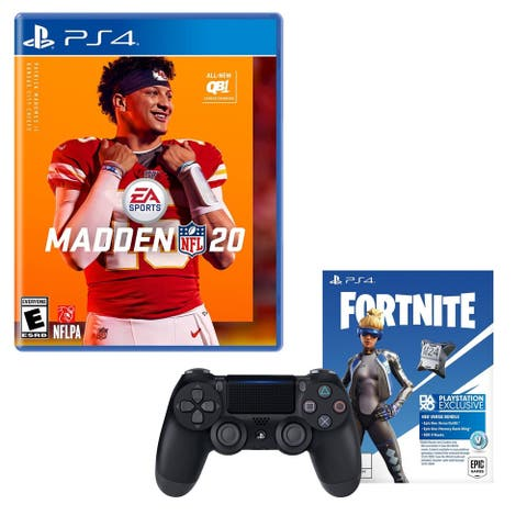 PlayStation 4 Dual Shock Controller with Fortnite and Madden 20