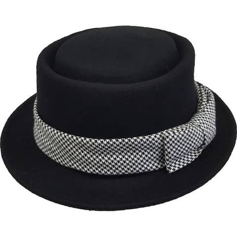 Women's pork pie Wool Felt fedora fall winter warm packable Hat