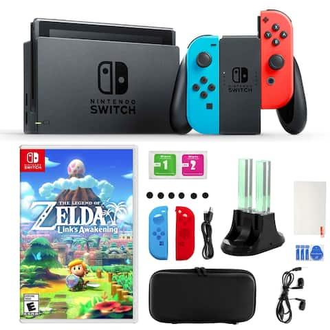 Nintendo Switch Neon Joy-Con, The Legend of Zelda, Accessory Kit