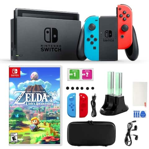 Nintendo Switch Neon Joy-Con, The Legend of Zelda, Accessory Kit