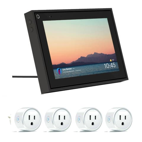 Facebook 8 Inch Black Mini Portal with Smart Sockets