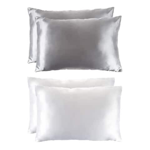Silver Orchid Lorraine Satin Microfiber Pillowcases (Set of 2)