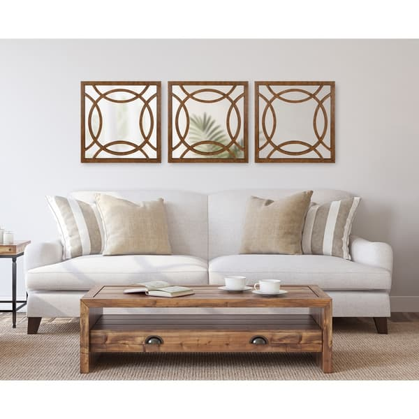 Shop Kate And Laurel Caelyn Rustic Accent Wall Mirror Brown 24x1 5x24 Overstock 30025023