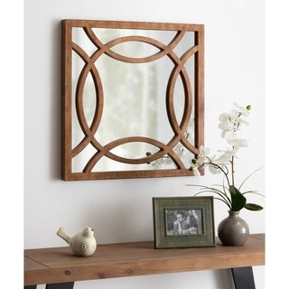 Kate and Laurel Caelyn Rustic Accent Wall Mirror - Brown - 24x1.5x24