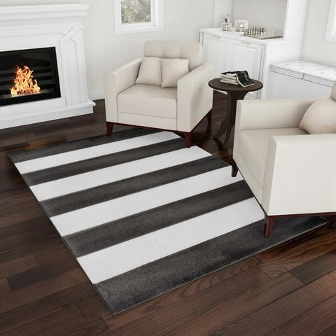 Breton Stripe Area Rug by Windsor Home - 77 x 53