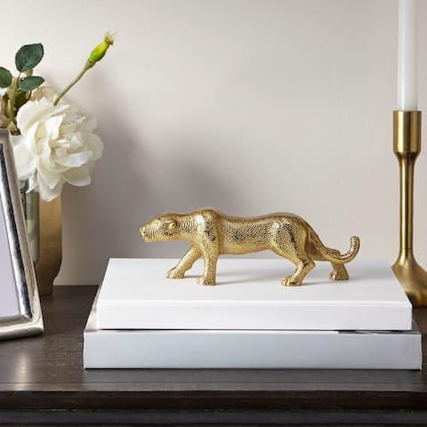 Madison Park Jaguar Gold Animal Object